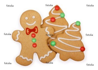 """Wallmonkeys Peel and Stick Wall Graphic - Gingerbread Cookies - 18""""W x 13""""H"""