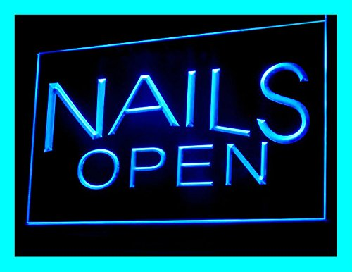 C B Signs Nail Salon Led Open Sign Neon Light Display