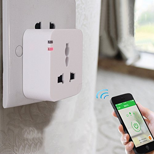 Ciyoyo Home Automation Wireless Switch Mini Wifi Smart Plug Control Your Electronics From Anywhere For Apple Iphone 4/4S/5/5C/5S/6 Samsung S2/S3/S4/S5 Note 2/3/4 Htc Sony Android Smartphones And Ipad 2/3/4/5 Ipad Mini Tablets(Color White,1 Pack)