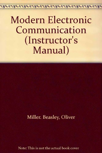 Modern Electronic Communication (Instructor's Manual)