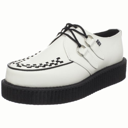 T.U.K Shoes Unisex A7269 Creeper Mondo Lo Casual Lace Up White A7269 9 UK