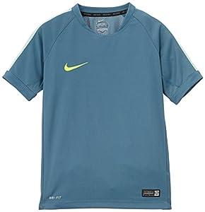 Nike Squad Flash Training T-Shirt Garon Bleu Rift/Menthe Moyen/Volt FR : M (Taille Fabricant : M)