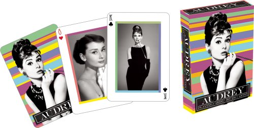 Audrey Hepburn Playing Cards