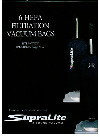 Riccar Vacuum Cleaner HEPA Bags - Type F,6 count (Riccar Filters compare prices)