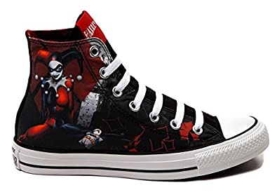 Converse All Star Harley Quinn fashion Sneaker athletic walking shoes