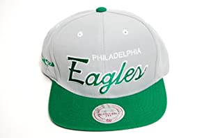 Mitchell & Ness Philadelphia Eagles 2 Tone Script Snapback Cap Hat M&N ND50Z by Mitchell & Ness