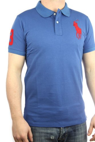 Polo by Ralph Lauren Big Pony Mens Polo-Shirt light blue, slim fit, men shirt