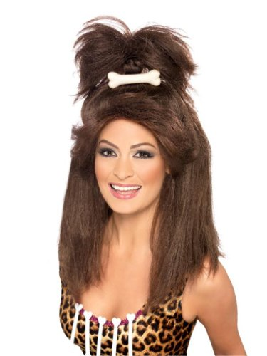Smiffy'S Crazy Cavegirl Wig, Brown, One Size