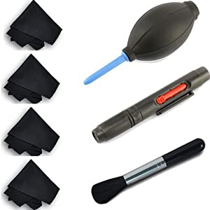 7 in 1 generic Lens Cleaning Pen and Professional Air Blower Cleaner and clean cloth for DSLR Camera lens