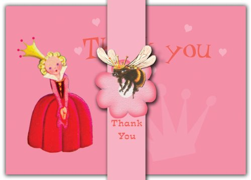 Dolce Mia Princess Thank You Card - Pack of 10 - 1