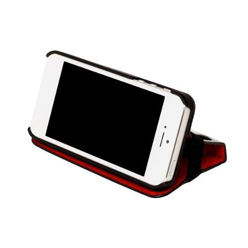 Kenzo - Custodia per Apple iPhone 5/5S con funzione piedistallo, colore: Nero