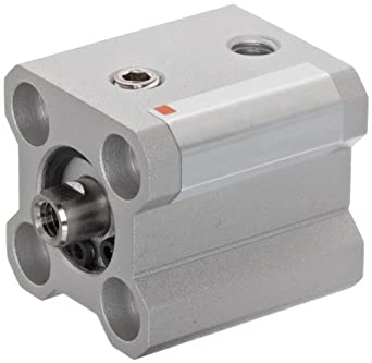 SMC NCQ2 Series Aluminum Air Cylinder, Compact, Double Acting, Through Hole Mounting, Not Switch Ready, No Cushion