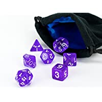 Polyhedral Dice Set Purple Translucent | 7 Piece | PRISTINE Edition | FREE Carrying Bag | Hand Checked Quality...