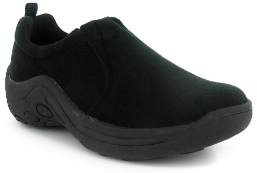 Womens Black Slip On Casual Moccasin Shoes -