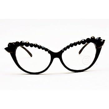 WM516-vp Style Vault Cateye Clear Lens Eyeglasses
