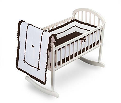 Baby Doll Unique Hotel Style Cradle Bedding Set, Chocolate