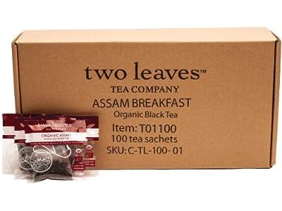Two Leaves Tea Company Organic Assam Black Tea, 100-Count Box
