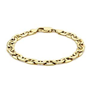 Carissima 9ct Yellow Gold Rambo Bracelet 20cm/8""
