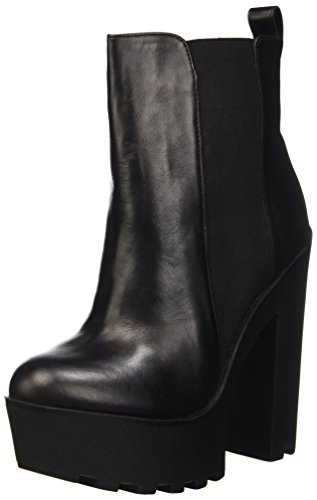 Windsor Smith Grunt Scarpe a Collo Alto, Donna, Nero (Black Leather), 38