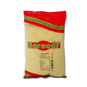 Amazon.com : Baroody Fine Semolina Coarse Flour # 3, 2lb
