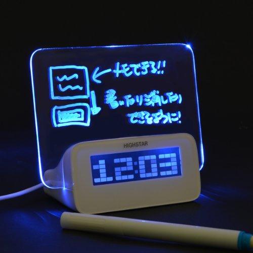 寝る前 に思いついた事を 書く ! アイデアボード 目覚まし時計 ALMCLK92
