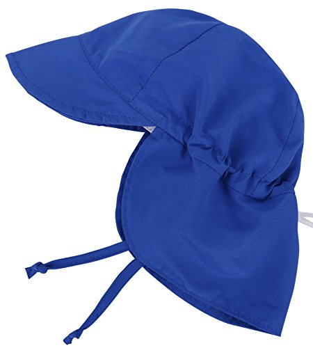 SimpliKids UPF 50+ UV Ray Sun Protection Baby Hat w/ Neck Flap & Drawstring,Royal Blue,0-12Months (Baby Boy Hat Sun Protection compare prices)