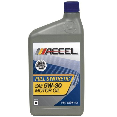 Accel 62699 sae 5w 30 full synthetic motor oil 1 quart for Motor oil plastic bottle manufacturer