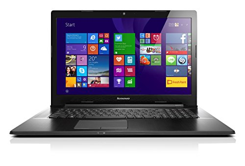 Lenovo G70-80 Ordinateur portable 17″ Noir (Intel Celeron, 4 Go de RAM, 1000 Go, HD Graphics, Windows 10)