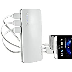Molife M-MC-9938 13000 Mobile Power Bank 13000 mAh (Grey & White) For Multiple Mobile Devices & LED Indicators.