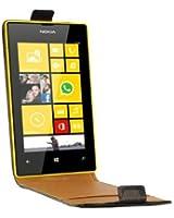 Swiss Charger SCP10088 Etui en cuir véritable pour Nokia 520 Noir