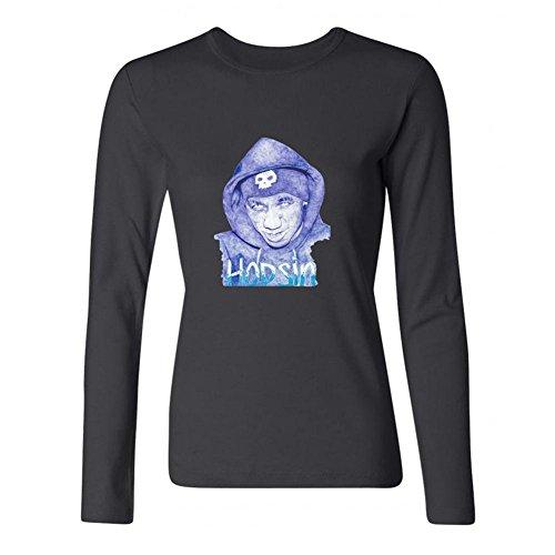 TIANRUN Women's Hopsin Hip Hop American Rapper Logo Long Sleeves T-shirt L