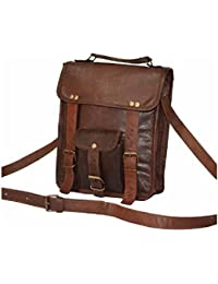 Pranjals House Genuine Brown Leather Messenger Sling Bag