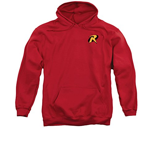 Batman DC Comics Robin Logo Costume Superhero Adult Pull-Over Hoodie