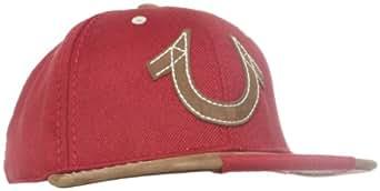True Religion Men's Horseshoe Snap-Back Baseball Cap, True Red, One Size