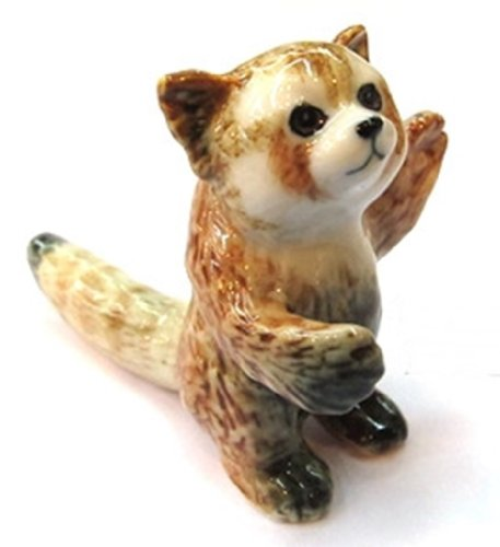 3 D Ceramic Toy Red Panda No.1 Dollhouse Miniatures Free Ship - 1