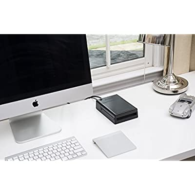 Sabrent USB 3.0 to SATA External Hard Drive Lay-Flat Docking Station with Built-in Cooling Fan for 2.5 or 3.5in...