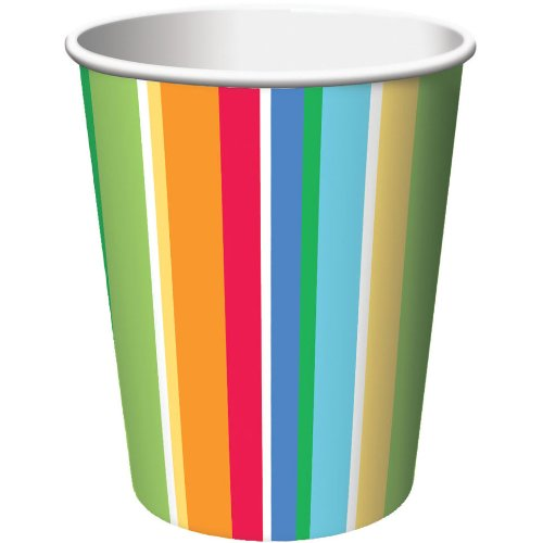Creative Converting 8 Count Hot Or Cold Paper Beverage Cups, Lazy Days