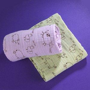 Stars & Stripes Green, Organic Muslin Swaddling Blankets 2 Pack - 1