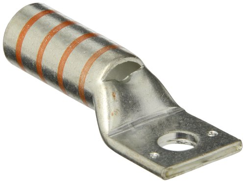 "Panduit Lcbx3/0-38-X Flex Conductor Lug, One Hole, Long Barrel With Window, 3/0 Awg Class G/H/I/K/M Conductor Size, 3/0 Awg Diesel Locomotive Conductor Size, 3/0 Awg Code Conductor Size, 3/8"" Stud Hole Size, Orange Color Code, 1-5/8"" Wire Strip Length, 0."