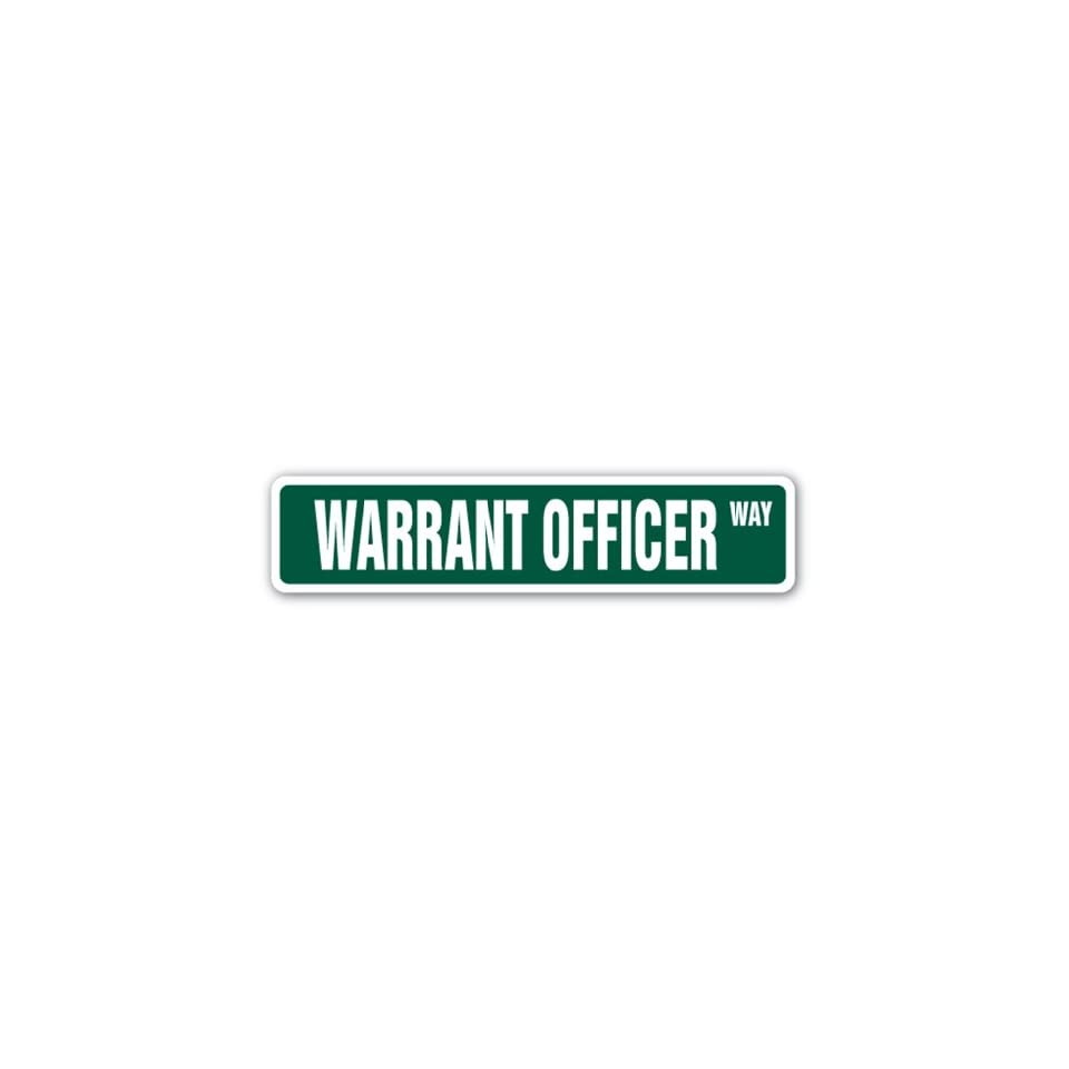 WARRANT OFFICER Street Sign Army Navy WO CWO on PopScreen