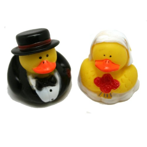 Set of 12 WEDDING Rubber Duckies/DUCKS BRIDE & GROOM/Marriage