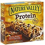 Nature Valley Protein Chewy Bars Peanut, Almond & Dark Chocolate Flavor, 1 Box = 5 Bars (2 Pack)
