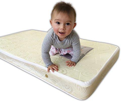 Materasso per Culla, Materasso ortopedico per bambino, colore: bianco, 100% cotone, impermeabile-Baby Dreams