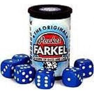 Original Pocket Farkel Dice Game - Miniature Set - Colors May Vary