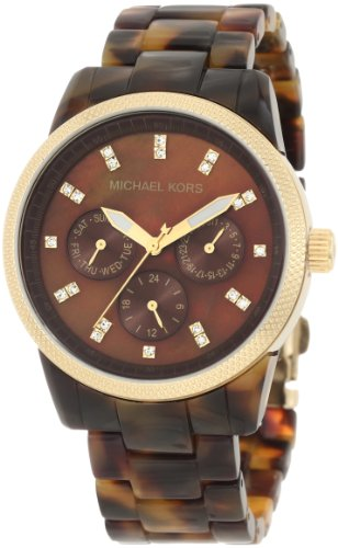 Michael Kors Mk5038 Ladies Brown Dial Tortoise Bracelet Watch