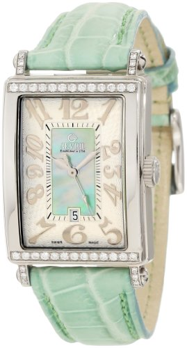 Gevril Women's 7246NT Avenue of Americas Green Diamond Watch