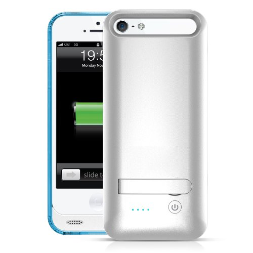 Mota 2400Mah Mfi Approved Rechargeable Double Added Battery Life Extended Battery Case For Apple Iphone 5/ 5S - Retail Packaging - Blue