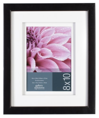 Gallery Solutions Black Gallery Frame, 8 by 10-Inch Matted to 5 by 7-Inch (7 X 10 Frame compare prices)