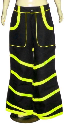 Lime Yelow Neon Uv Unisex Baggy Bondage Trousers Skater Cyber Rave Gothic Punk USA