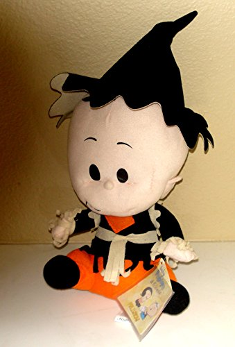 Baby Popeye Plush in Halloween Outfit - Measures 10 Inches and 15 Inches to Top of Hat